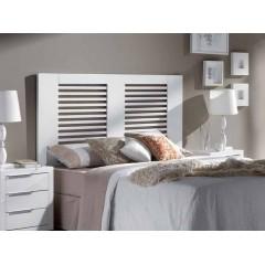Cabecero de cama lacado blanco calado