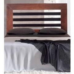 Cabecero de cama en pino mazizo tintado nogal