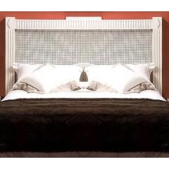 Cabecero de cama dm celosia lacado blanco calado