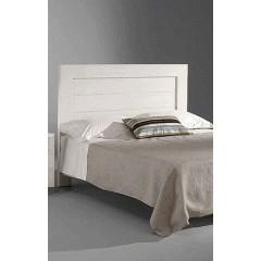 Cabecero de cama DM lacado blanco a lamas