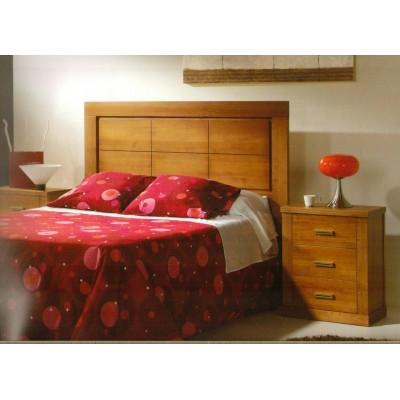 Cabecero de cama pino macizo barnizado nogal  M03/80/C7