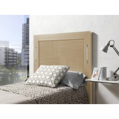 Cabecero de cama chapado roble con  LED
