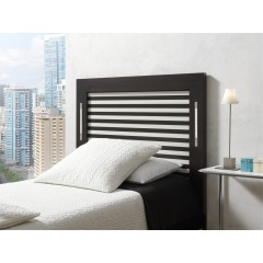 Cabecero de cama roble tintado con tiras de LED