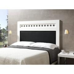 Cabecero de cama lacado blanco tapizado