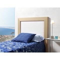 Cabecero de cama roble claro tapizado